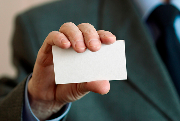 What's the point of business cards if you don't hand them out?